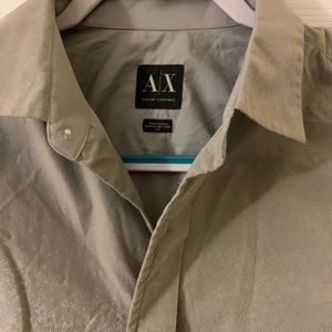 Armani exchange small gray button up